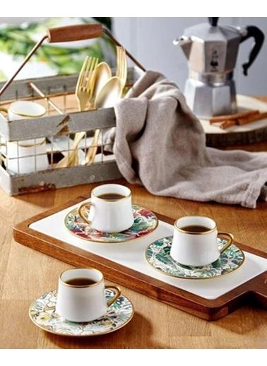 Koleksiyon Sufı Amazon Brasil Türk Kahvesı Seti 6 Lı Renkli
